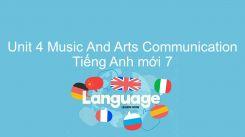 Unit 4: Music And Arts - Communication