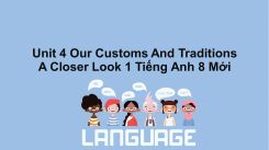 Unit 4: Our Customs And Traditions - A Closer Look 1