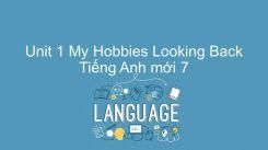 Unit 1: My Hobbies - Looking Back