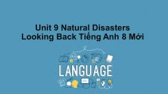 Unit 9: Natural Disasters - Looking Back