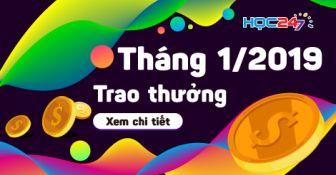 DANH SÁCH NHẬN THƯỞNG THÁNG 1/2019