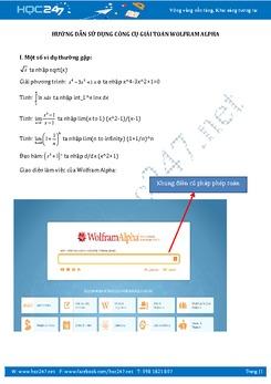 Hướng dẫn sử dụng công cụ giải Toán Wolfram|Alpha