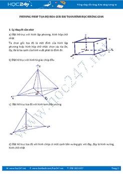Phương pháp tọa độ hóa giải bài toán hình học không gian