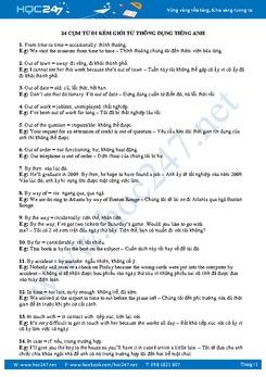 24 cụm từ thông dụng đi kèm giới từ thông dụng trong tiếng Anh