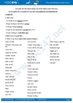 Danh động từ (Gerund) và động từ nguyên thể (To infinitive) trong tiếng Anh