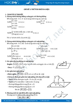 Chuyên đề Thể tích khối đa diện Hình học 12