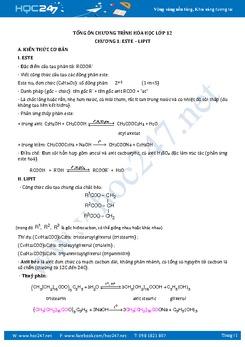 4 Mức độ Nhận biết - Thông hiểu - Vận dụng - Vận dụng cao Hóa học 12 có đáp án