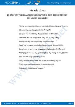 Phân tích đoạn thơ trong đoạn trích Đất Nước của Nguyễn Khoa Điềm