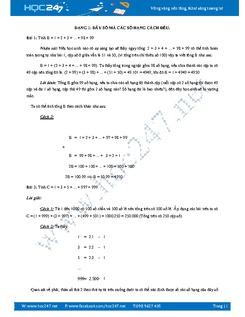 Một số dạng toán nâng cao 7