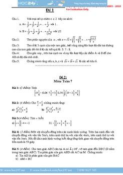 30 đề thi học sinh giỏi toán 7 có đáp án