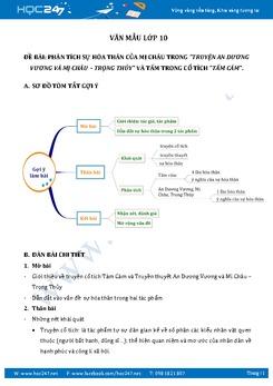 Phân tích sự hóa thân của hai nhân vật  Mị Châu và Tấm