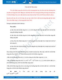 Bài tập tìm chữ số tận cùng