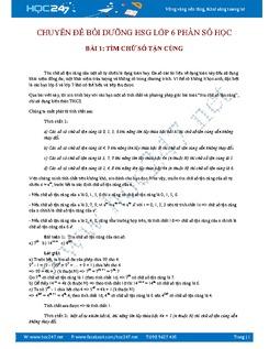 Chuyên đề bồi dưỡng học sinh giỏi toán 6