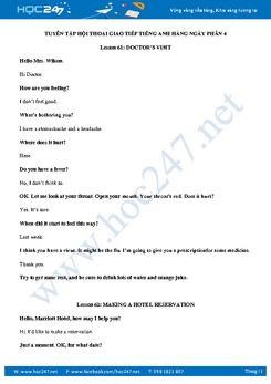 Tuyển tập hội thoại giao tiếp tiếng Anh hàng ngày Phần 4