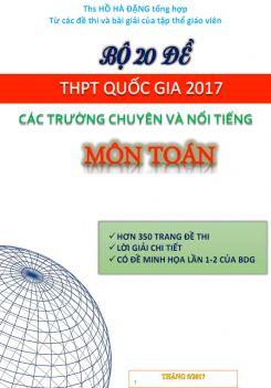 Bộ 20 đề thi thử THPT Quốc gia 2017 môn Toán có lời giải