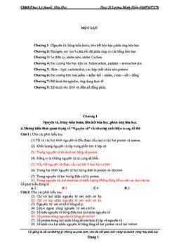 Chinh phục lí thuyết hóa học ThS Lương Minh Hiền
