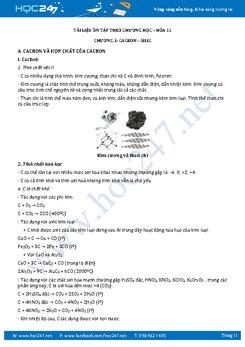 Phương pháp giải Hóa 11 Chương 3 Cacbon Silic có đáp án