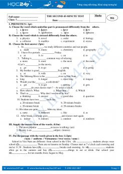 Bài tập viết lại câu tiếng Anh lớp 6 học kì 1
