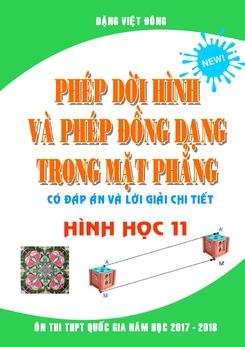 Trắc nghiệm phép dời hình và phép đồng dạng trong mặt phẳng có lời giải Đặng Việt Đông