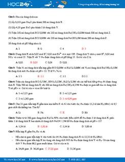 20 Bài tập Kim loại tác dụng với nước Hóa 12 có đáp án