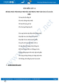 Phân tích đoạn thơ đầu bài trong thơ Vội vàng của Xuân Diệu