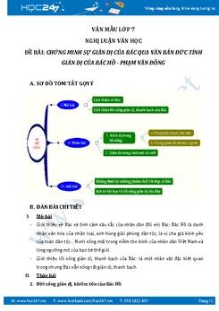Chứng minh sự giản dị của Bác qua văn bản Đức tính giản dị của Bác Hồ