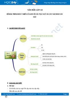 Trình bày ý kiến về câu tục ngữ Ăn cây nào rào cây nấy