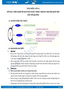 Cảm nghĩ về bài văn Vượt thác của Võ Quảng
