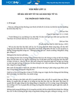 Đôi nét về tác giả Hàn Mặc Tử và bài thơ Đây thôn Vĩ Dạ