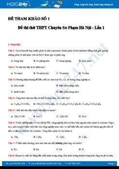 5 Đề thi thử THPT QG môn Hóa học năm 2018 có đáp án