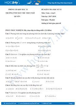Đề kiểm tra học kì 2 môn Toán trường  PTDT Bán trú THCS Ngô Quyền năm 2018 có lời giải chi tiết.pdf