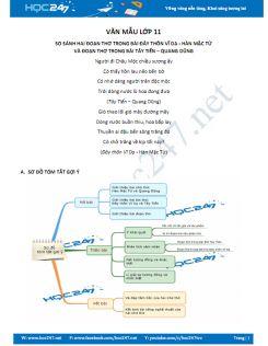 Dàn ý so sánh hai đoạn thơ trong Đây thôn Vĩ Dạ - Hàn Mặc Tử và Tây Tiến - Quang Dũng.