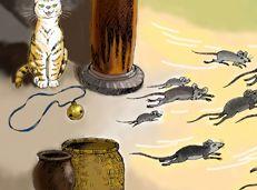 Soạn văn 6 Đeo nhạc cho mèo tóm tắt
