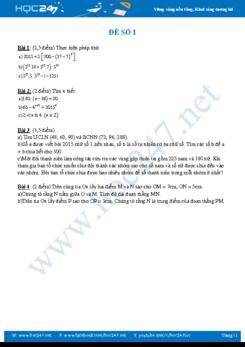 5 đề kiểm tra HK1 Toán 6 tự luyện