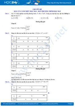 Trắc nghiệm bất đẳng thức đại số 10 cực chất