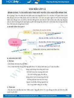 Bình giảng 7 câu đầu bài thơ Đất nước của Nguyễn Đình Thi