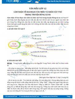 Cảm nhận về hai đoạn văn miêu tả nhân vật Tnú trong truyện Rừng xà nu