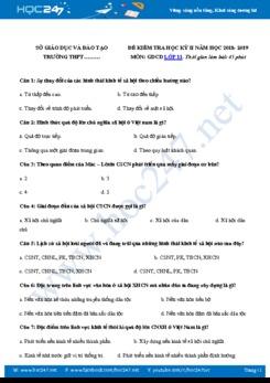Bộ 5 đề thi HK2 môn GDCD lớp 11 năm 2019 có đáp án