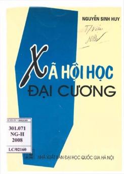 Ebook Xã hội học đại cương - Nguyễn Sinh Huy