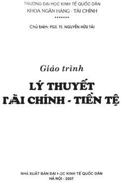 Giáo trình Lý thuyết tài chính tiền tệ - PGS.TS. Nguyễn Hữu Tài