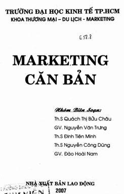Giáo trình Marketing căn bản - ThS. Quách Thị Bửu Châu