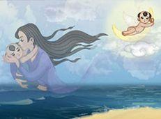 Soạn văn 9 Mây và sóng tóm tắt