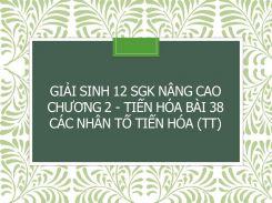 Giải Sinh 12 SGK nâng cao Chương 2 - Tiến hóa Bài 38 Các nhân tố tiến hóa (tt)