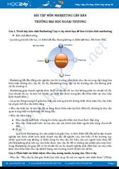 Bài tập môn Marketing căn bản - ĐH Ngoại Thương