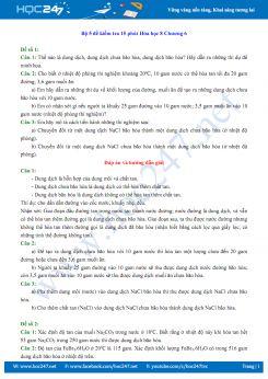 Bộ 5 đề kiểm tra 15 phút Chương 6 môn Hóa học 8 (có đáp án)