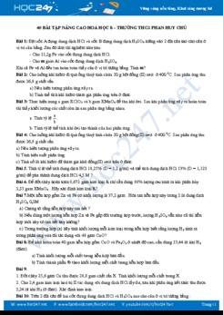 40 Bài tập nâng cao môn Hóa học 8 - Trường THCS Phan Huy Chú