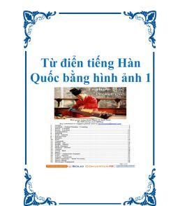 Từ điển tiếng Hàn Quốc bằng hình ảnh