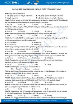 Bài tập hiệu suất điều chế các hợp chất từ cacbohydrat (có lời giải chi tiết)