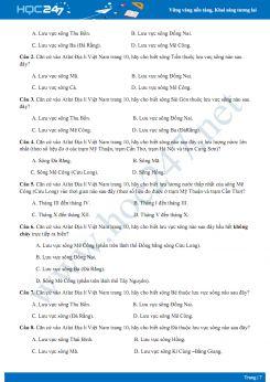 Câu hỏi trắc nghiệm Atlat Địa lí Việt Nam - P1 (trang 4 - 20)