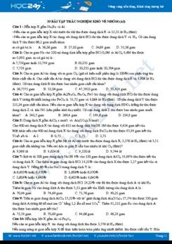 33 Bài tập trắc nghiệm khó về Nhôm (Al)